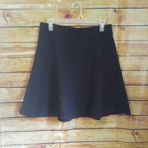 Ann Taylor Black Skater Skirt
